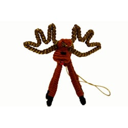 Yarn Brown Reindeer Ornament (Colombia)