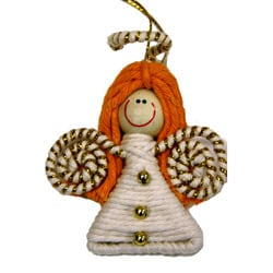 Yarn Angel Ornament (Colombia)