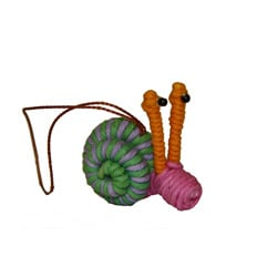 Yarn Snail Ornament (Colombia)