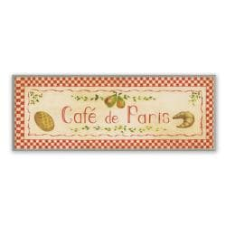 Red Caf De Paris Plaque Rect