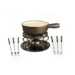 Swissmar KF-66513 Lugano Cheese Fondue, 9-Piece, Black