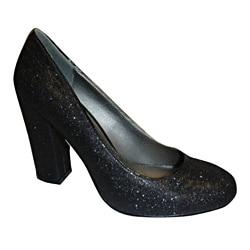Bucco Ladies' Imperial Black Glitter Pumps