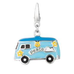 Sterling Silver Flower Power Bus Charm