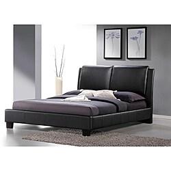 Sabrina Black Upholstered Queen Size Platform Bed