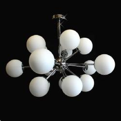 Modern 15 Light Sputnik Contemporary Chrome Atom Chandelier