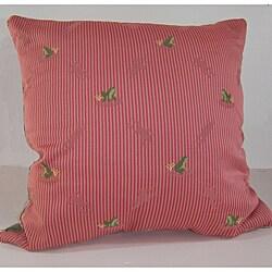 Ribbit Rose Decorative Pillow