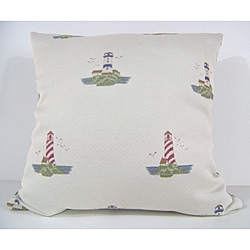 Land Ho Natural Decorative Pillow