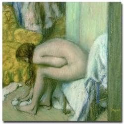 Edgar Degas, 'After the Bath, 1886' Canvas Art