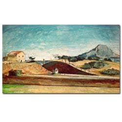 Paul Cezanne 'The Railway Cutting, 1870' Canvas Art