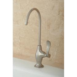 Designer Solid Brass Satin Nickel Single-Handle Water Filter Faucet