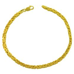 Fremada 14k Yellow Gold Solid Byzantine Bracelet (8-inch)