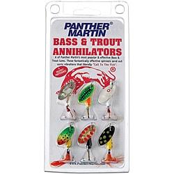 Panther Martin Six-pack Bass/Trout Annihilator Metal Fishing Lure Kit