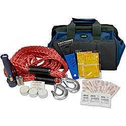 34-piece Winter Automotive Safety Kit with Carry Bag and First Aid Kit