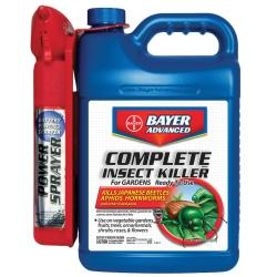Bayer Advanced Complete Brand Insect Killer For Gardens with Ready-To-Use Power Sprayer (1.3-Gallons)