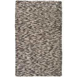 Hand-woven Blackpool New Zealand Wool Plush Textured Rug (8' x 10')