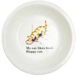 Ore Happy Cat Ceramic Bowl