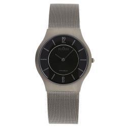 Skagen - 233LTTM Titanium Mesh Watch (Grey/Grey) Analog Watches