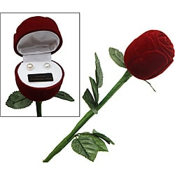 Premium Genuine Pearl Earrings with Red Rose Box (Case of 100)