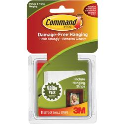 3M Command Small White Picture Hanging Strips (Pack of 8)