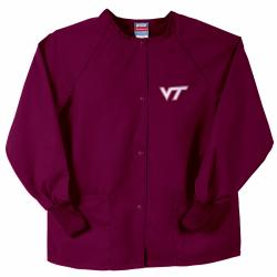 Gelscrubs Maroon Unisex NCAA Virginia Tech Hokies Nurse Jacket