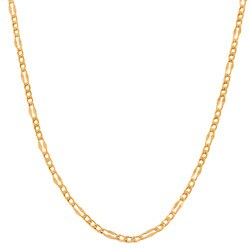 Fremada 14k Rose Gold 16-inch Fancy Figaro Link Chain