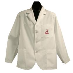 Gelscrubs Machine-Washable Unisex NCAA Alabama Crimson Tide Short Labcoat
