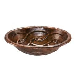 Oval Braid Self-rimming Hammered Copper Sink