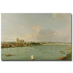 Canaletto 'View of the Thames from the South' Large Canvas Art