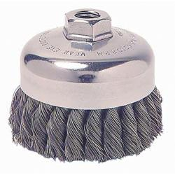 General-Duty Knot Wire 3.5-Inch Cup Brush Drill Attachment