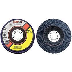CGW Abrasives 4.5-Inch 100-Percent Zirconia Z3-80 Flap Discs