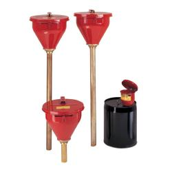 Justrite Safety Drum Funnel/ Brass Flame Arrester