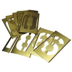 C.H. Hanson 15-piece Number Brass Stencil Set (2 inches)