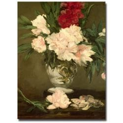 Edouard Manet 'Vase of Peonies, 1864' Canvas Art