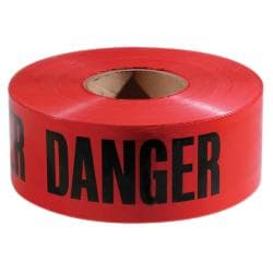 Empire Level Red and Black Danger Tape