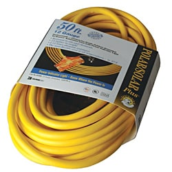 Coleman Cable Tri-Source Yellow Multiple Outlet Cord
