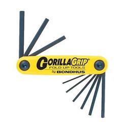 Bondhus 'Gorilla Grip' Inch Foldup 9-Tool Hex Wrench Set