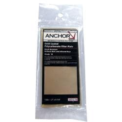 Anchor 4.5-inch x 5.25-inch Gold Coated Shade 12 Polycarbonate Filter Plate