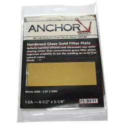 Anchor 4.5-inch x 5.25-inch Hardened Glass Gold Filter Plates