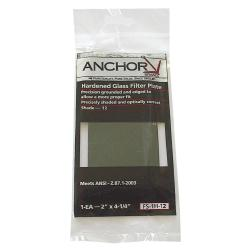 "Anchor 2"" x 4.25"" Hardened-Glass Green Filter Plate for Welding"