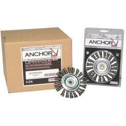 Anchor Brand 4-inch Stringer Bead Wheel Brush
