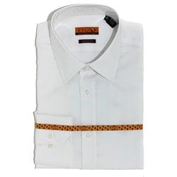 Men's White Satin Cotton Slim Fit Shirt