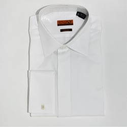 Men's White Micro Pattern Formal Cotton Shirt