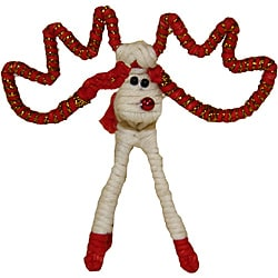White Yarn Reindeer Ornament (Colombia)