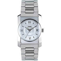 Hush Puppies Men's Stainless Steel Silver White Dial Watch