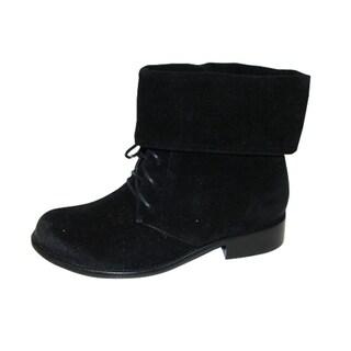 Bucco Women's Black Lace-up Boots
