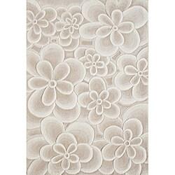 Alliyah Handmade Bleach Tan New Zealand Blend Wool Rug (5' x 8')