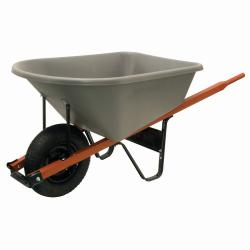 Ames 6-Cubic-Foot Contractor Wheelbarrow