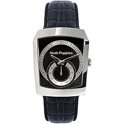 Hush Puppies Men's Stainless Steel Leather Strap Watch