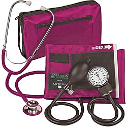 Veridian 02-12708 Aneroid Sphygmomanometer with Dual-head Stethoscope Adult Kit