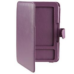 Purple Leather Case for Amazon Kindle 3